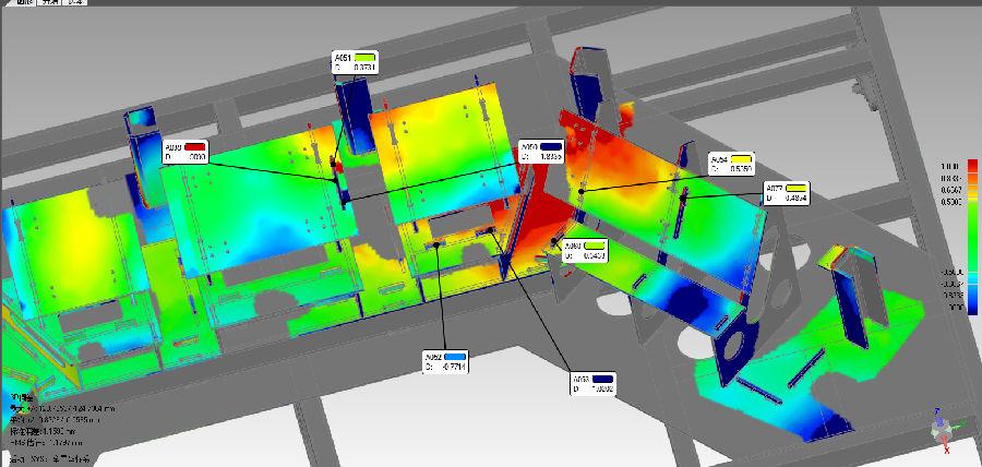 3D激光扫描仪进行便携式扫描仪对轨道交通零部件的...