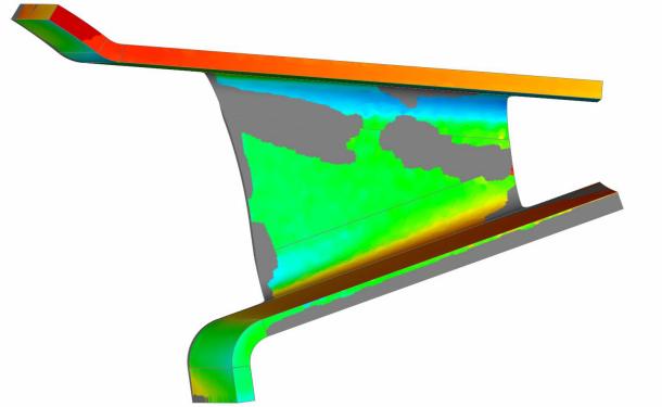 三维扫描仪对汽车钣金外形检测折弯件钣金件热成型加...