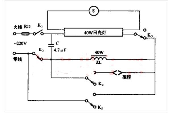 日光灯做电视机交流稳压器电路
