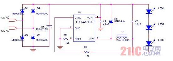基于一种用高能效LED MR16灯替代低能效MR16卤素灯的设计方案