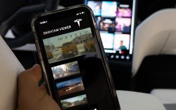 特斯拉智能手机应用程序可查看哨兵别墅靠近模式录制视频
