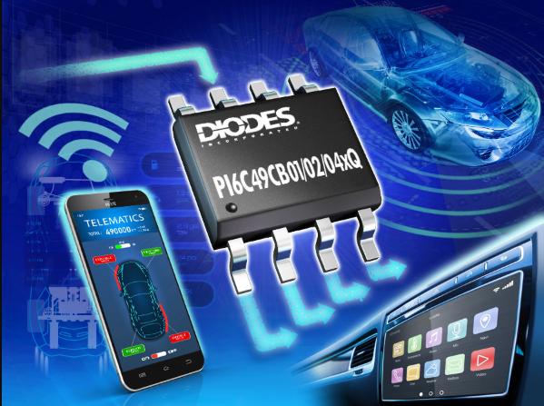 Diodes推出符合汽車規格的CMOS頻率緩沖器...