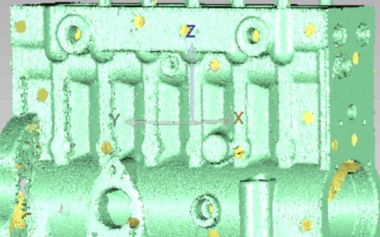 手持式三维激光扫描仪逆向开发发动机发动机机壳逆向高精度蓝光抄数数据