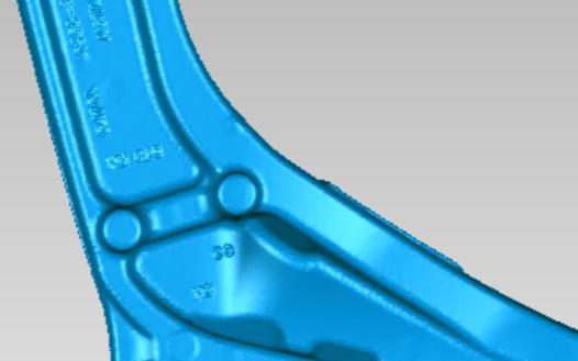 汽车底盘零部件三维检测对比机械抄数设计正向三维建...