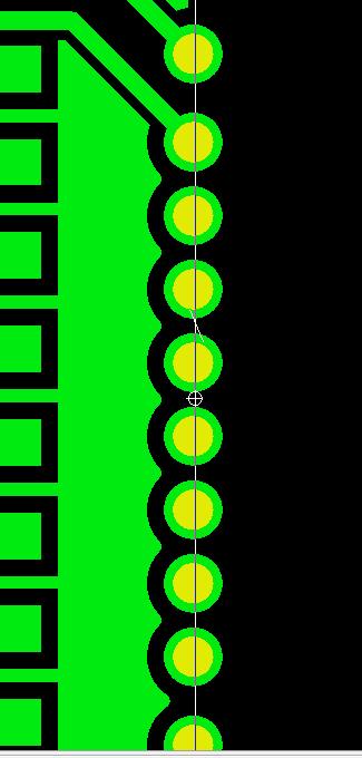 半孔工藝孔間距.示意圖1