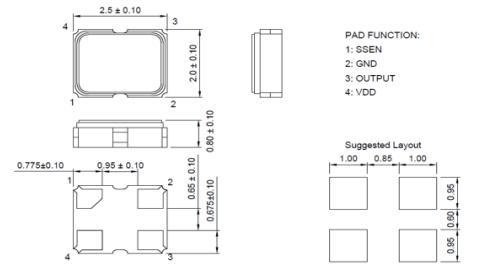 SSDOI37B1AT扩频时钟发生器电磁干扰抑制振荡器的数据手册免费下载
