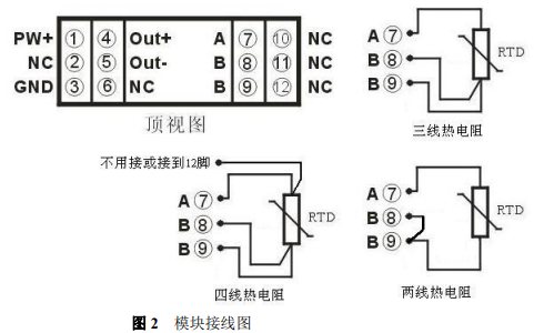 Pt100转换一进一出温度信号隔离器的数据手册免费下载