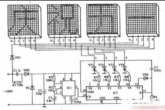 两款led灯具控制器电路图解析