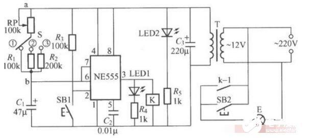 简单的暗房曝光定时灯电路