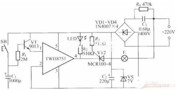 三款功率开关集成电路的延迟灯电路解析