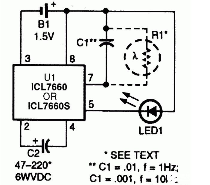 三款LED闪光器电路图解析