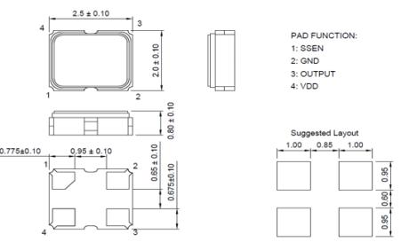 SSDOI24B1AT擴頻時鐘發生器超移動式電磁干擾抑制振蕩器的數據手冊