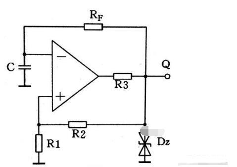 集成运放组成的多谐振荡器电路