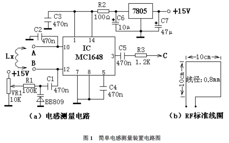 一个简单的电感量测量装置电路详细说明