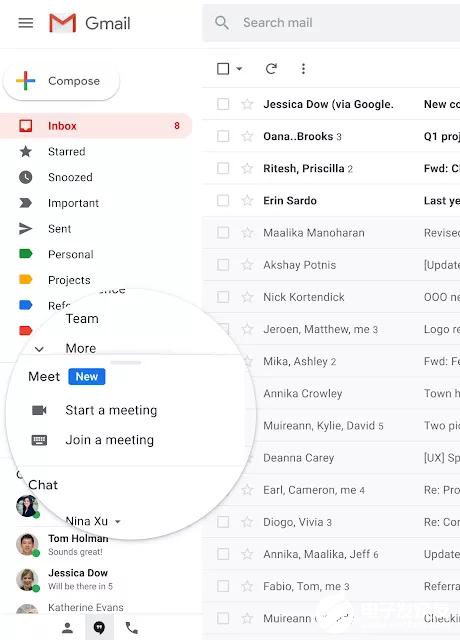 谷歌视频会议服务Meet加入Gmail 并在未来...