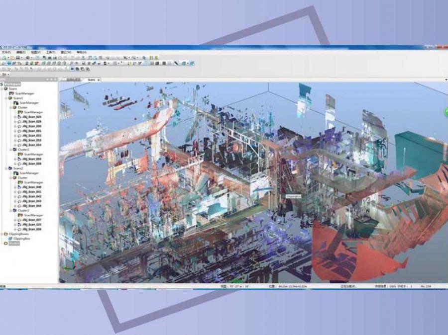 船舶压载水和脱硫改装三维激光扫描仪船舶改装中的实...