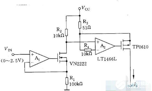 壓控式可調恒流源電路圖