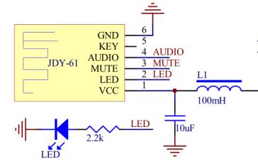 JDY-61蓝牙音频模块的使用说明详细概述