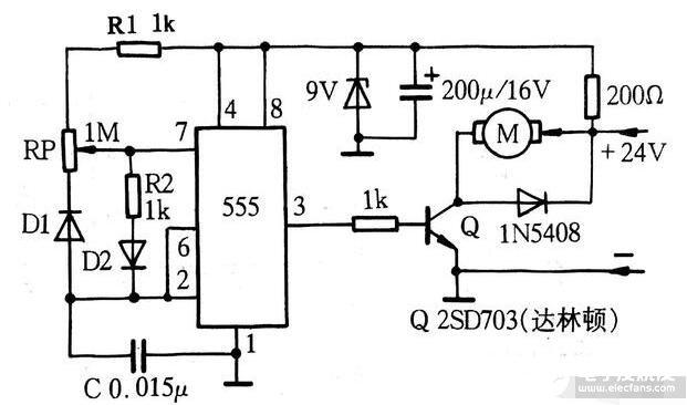 經典的PWM脈寬控制調速電路
