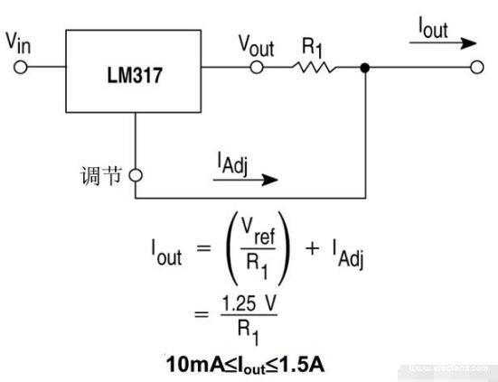 LM317恒流源工作原理
