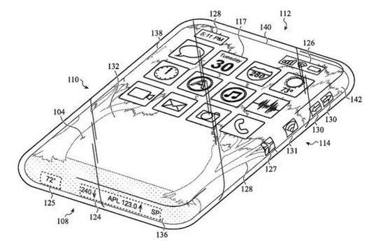 苹果正在研发环绕触摸屏全玻璃iPhone,任意面都可充当屏幕