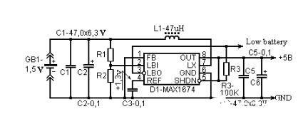 1.5v转5v升压电路图