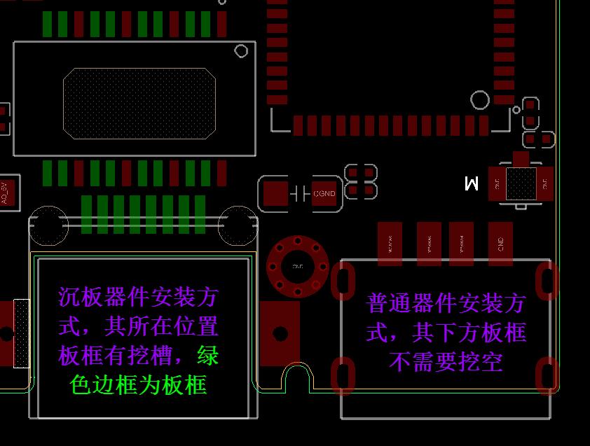 Allegro軟件中沉板的器件封裝應該怎么處理呢?