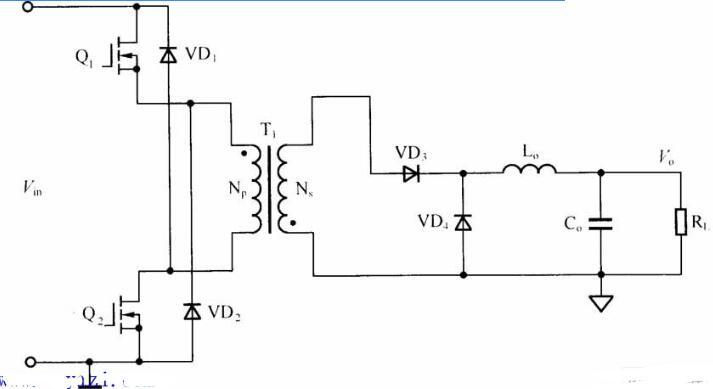 雙管正反激DC/DC變換器電路圖