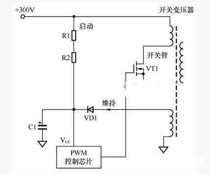 开关电源启动电路图