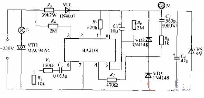 兩款觸摸式步進調光燈電路圖解析