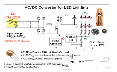 基于交流電源的LED照明電路
