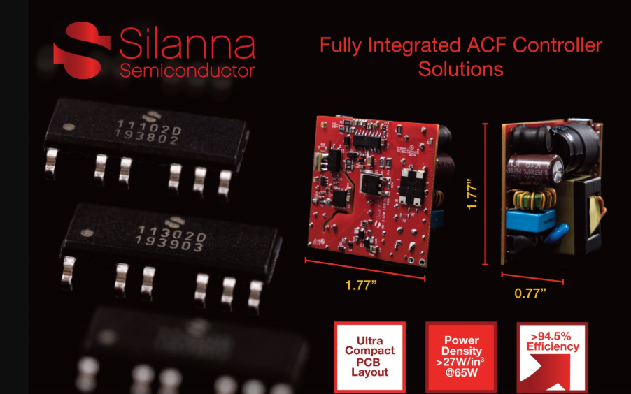 Silanna Semiconductor宣布擴展有源鉗位反激控制器(ACF)產品系列