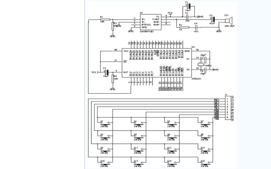 使用单片机设计电子琴的详细资料说明