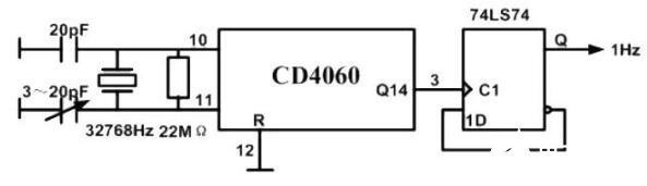 CD4060芯片應用電路圖