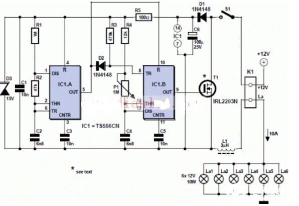 兩款12v調光器電路圖解析