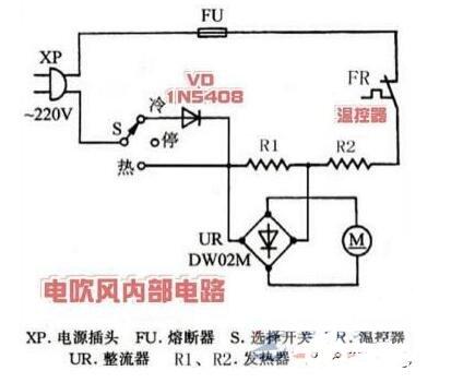 電吹風的工作過程_電吹風的內部電路圖