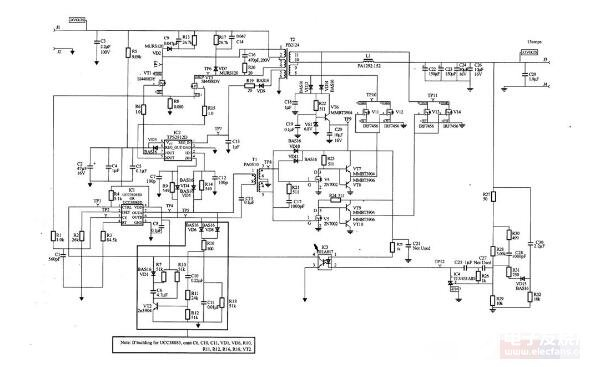 基于UCC38083的電源電路圖_UCC38083典型應用電路