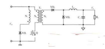 单端正反激DC/DC变换器电路图