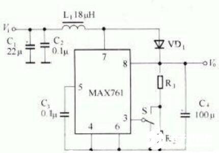 三款MAX761典型應用電路圖詳解