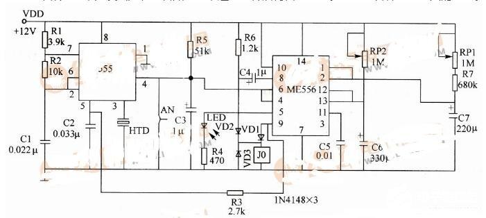 兩款限時報知器電路圖解析