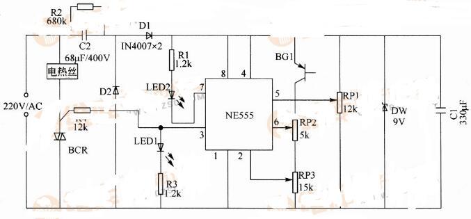 电热毯温控器电路图