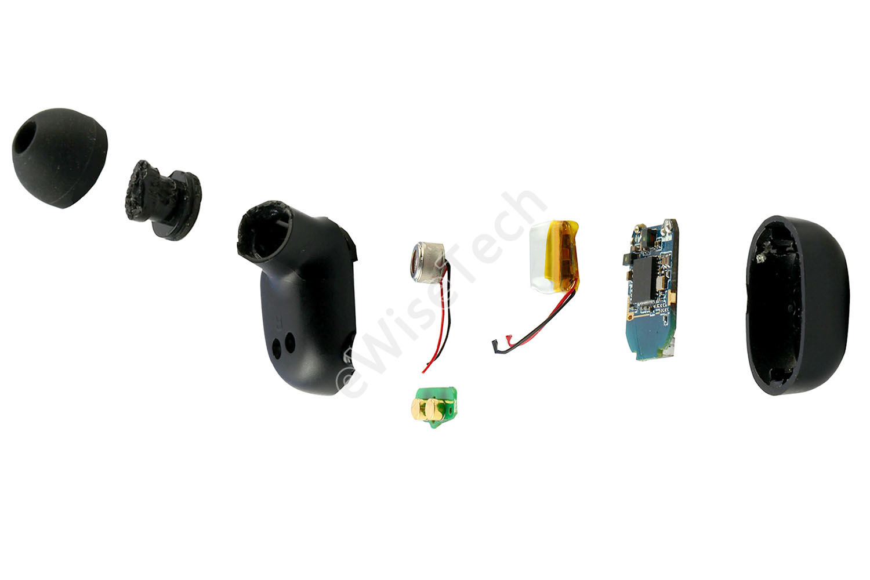 E拆解:百元真无线QCY T1S 国产蓝牙耳机做工如何