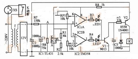 电冰箱高低压保护电路_电冰箱保护器控制电路