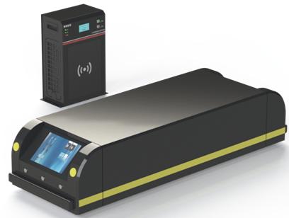 青島魯渝能源推出AGV無線充電系統,可最大實現充電200A的電流輸出