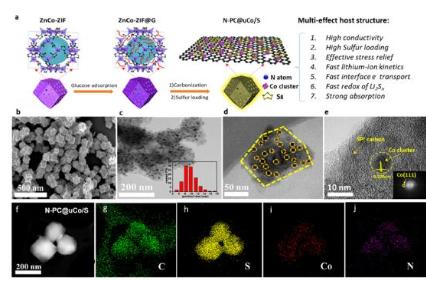 新型纳米钴多孔碳宿主材料,为新型锂硫电池正极材料提供思路