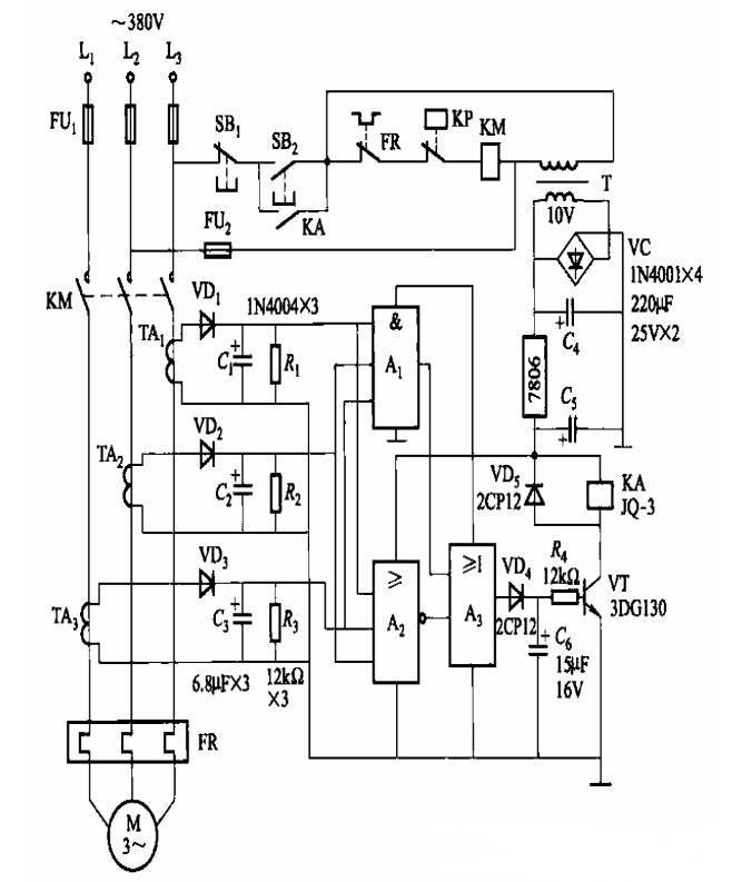 兩款壓縮機斷相保護電路圖解析