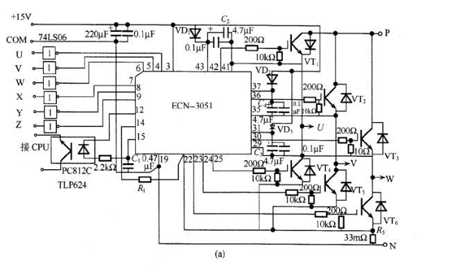 基于ECN-3051构成的驱动电路图