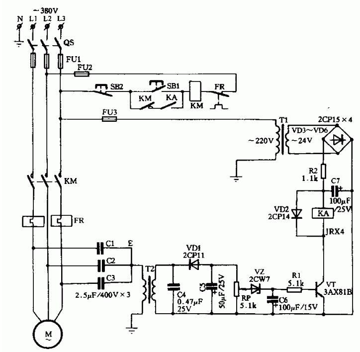 兩款零序電壓斷相保護電路圖解析