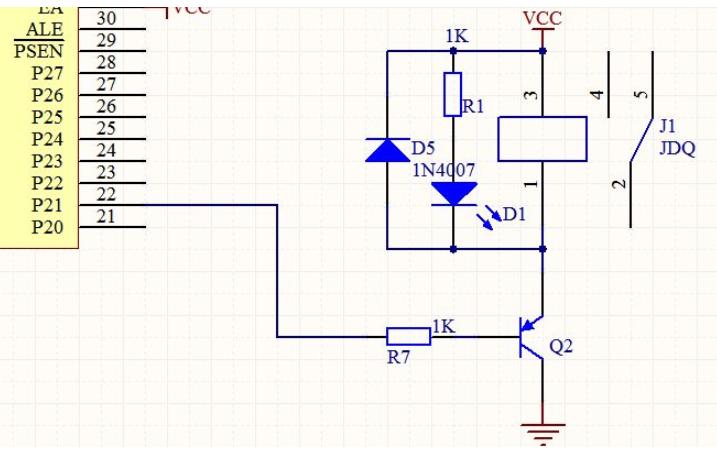 如何从继电器驱动描述接地