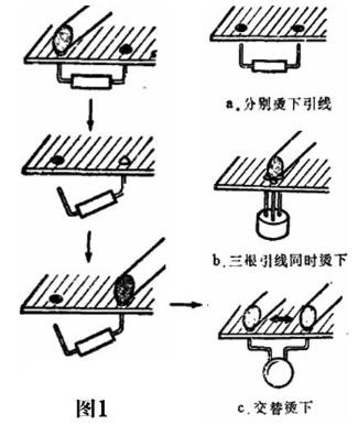 用铬铁烫下零件的操作方法和有哪些注意事项